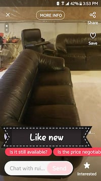 brown leather sectional sofa screenshot Barrie