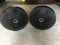 Beautiful  super thick!! TROY 45lb interlocking bumper plates! $100 for set of 2 EXCELLENT condition! Grayslake, 60030
