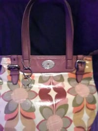 brown and white Coach tote bag West Monroe, 71292