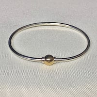Sterling Silver 14k Gold Cape Cod Bangle Bracelet Ashburn