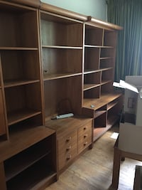 9 piece wall unit with working lights need gone ASAP. Pickup in br Brampton, L7A