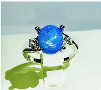 OPAL IN WHITE GOLD FILLED RING, SZ 5 & Sz 8 Sparks, 89441