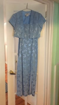 light blue dress thin straps with jacket size 10 P worn once  Cranford, 07016