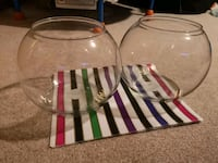 A pair of glass bowl