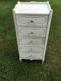 White Wood 5 Drawer Lingerie Dresser Laurel, 20708