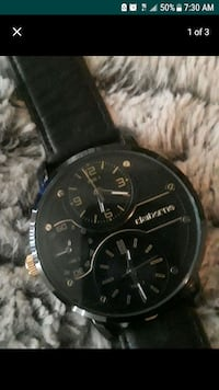 Black and Gold leather watch  Riverside, 92509