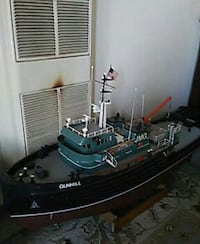 black, gray, and teal fisher boat scale model San Francisco, 94122