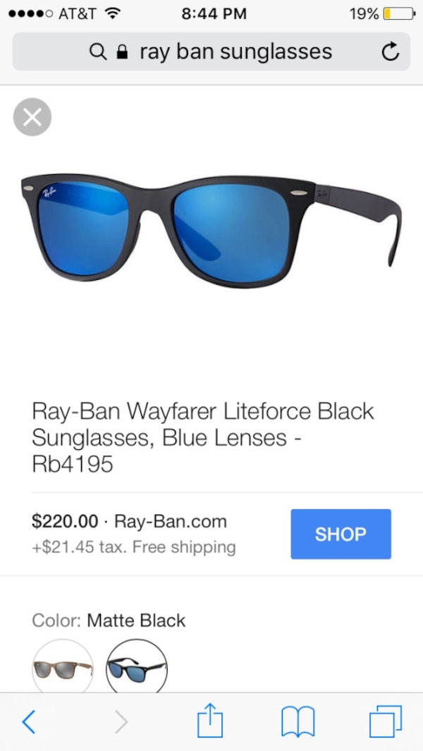 Used Ray-ban watfarere liteforce black sunglasses for sale in ... fad39a7ef2cba