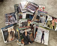 Extensive collection of over 100 Threads magazines Pennsburg