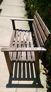 Vintage distressed stained bench  Chicago, 60657