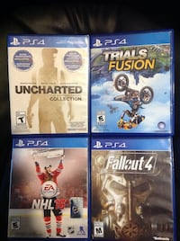 four assorted PS4 game cases Laval, H7K 3M5