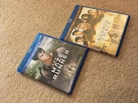 Maze Runner 1 and 2 Blue Ray and DVD Manassas, 20110