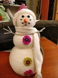 Holiday tabletop snowman decoration