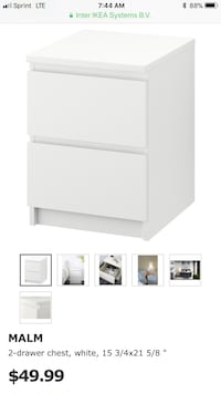 white wooden 2-drawer chest Washington, 20017
