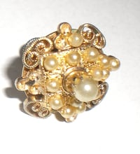 Antique signed Coro pearl earrings VANCOUVER