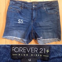 blue denim short shorts collage Winnipeg, R2K 3S9