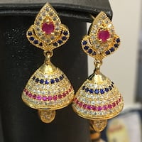Indian handmade 1k gold plated fine quality earrings Aldie, 20105
