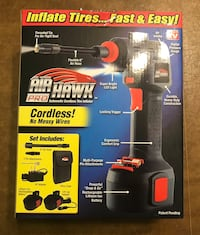 "Air Hawk Pro Automatic Cordless Tire Inflator ""As Seen On TV"" Brand Ne Scranton, 18509"