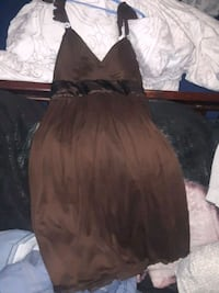 Brown dress with silk on it
