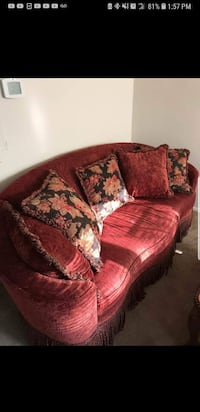 red and brown floral sofa Bowie, 20720
