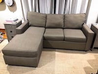 Gray fabric sectional sofa with removable chaise Poughkeepsie, 12603