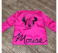 Pink and black minnie mouse print long sleeve shirt East Hartford