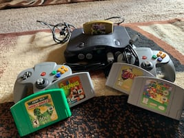 Nintendo 64 with games & accessories