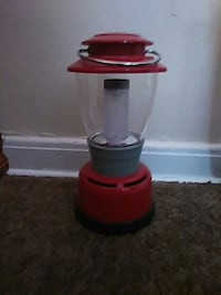 red and black camping light