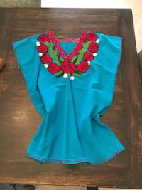 teal and red floral long-sleeved shirt Tustin, 92780