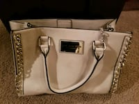 women's white leather 2-way bag Baldwinsville, 13027