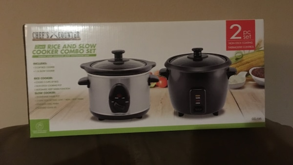 Brand new in box rice cooker and slow cooker