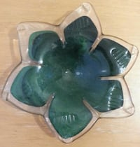 Flower Shape Marbled Murano Candy Dish