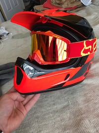 Fox Rampage DH helmet and Fox Air Space goggles Chantilly, 20151