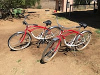 Two red and silver beach cruiser Valley Center, 92082