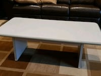 white coffee table.   Great for a rec room. Toronto, M9C 1P4