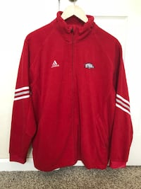 Red and white adidas zip-up jacket Vacaville, 95687