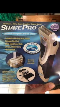 NEW!! ShavePro Cordless Rechargeable Wet/Dry Shaver Katy, 77449
