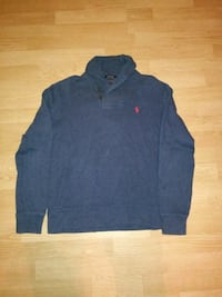 black and red Ralph Lauren long-sleeved polo shirt 554 km