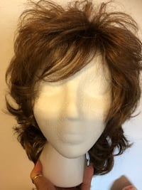 Wigs synthetic platinum with dark new $25 each