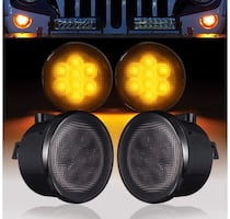 Wrangler Front LED Turn Signal Lights Amber Smoked Lens