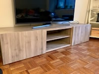 Ikea besta tv stand in brown wood. In excellent condition.  New York, 10019