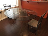 OVAL GLASS DINING TABLE SET - GREAT CONDITION - FREE DELIVERY TODAY ONLY Toronto, M1C 2A7