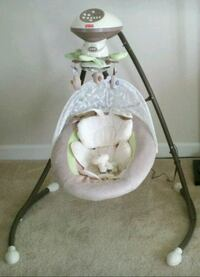 baby's white and gray cradle and swing Rockville, 20851