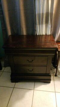 brown wooden 2-drawer nightstand Miami Beach, 33141