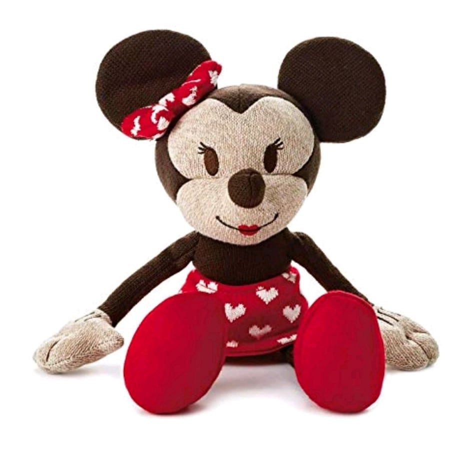 Sweetheart Minnie Mouse Knit Plush Doll NWT