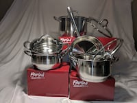 two stainless steel cooking pots San Diego