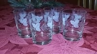 4 etched juice glasses  Richlands, 28574