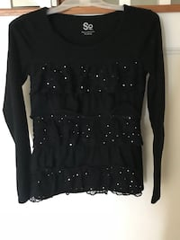 Black sparkly ruffled top (kids) Clarksburg, 20871