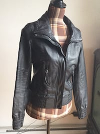 Brand new aldo black leather jacket in small Montréal, H1M 2E1
