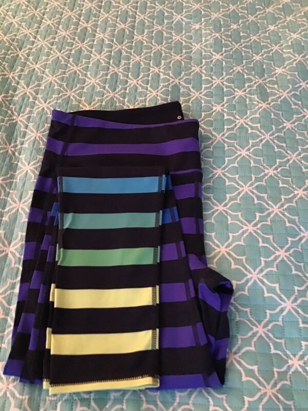 ATHLETA high rise bold stripe chaturanga tight  new 3d8dd7e9-0ed5-40a8-b9d2-5dbef88b1760